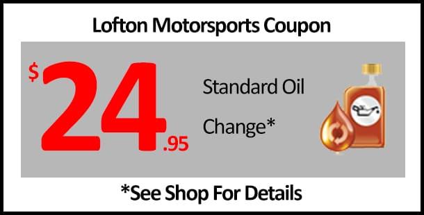 Lofton Coupon 2495 Oil Change